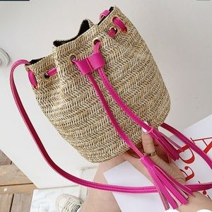Handbags - Straw Crossbody bag